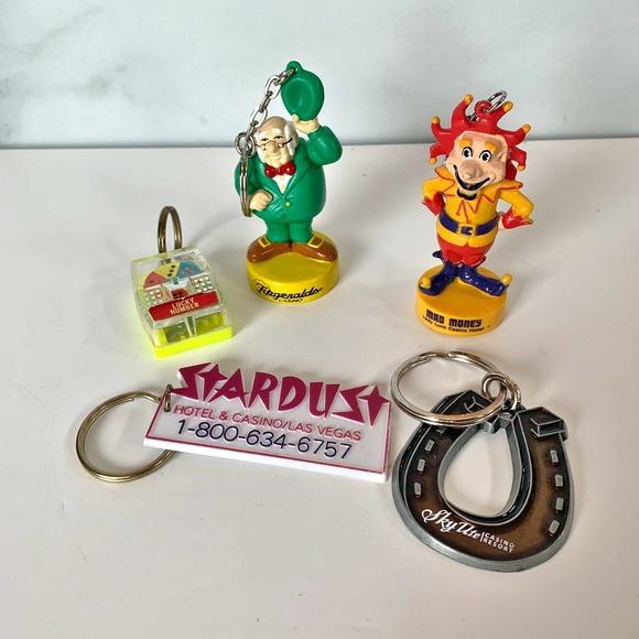 Vintage Keychain Lot Las Vegas Casinos Lady Luck